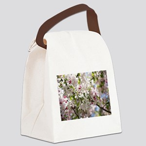 Spring Apple Tree Blossoms Canvas Lunch Bag